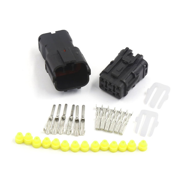UXCELL 1 Kit 6 Pin Way Waterproof 1.8Mm Wire Connector Plug Car ...