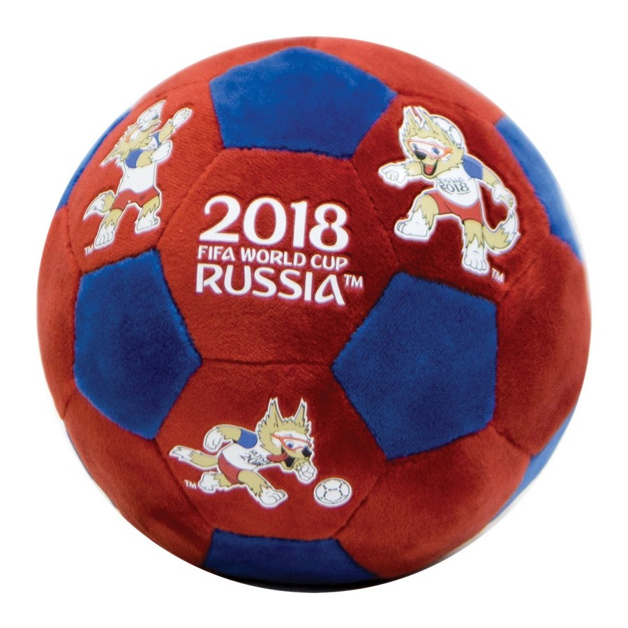 FIFA WORLD CUP RUSSIA 2018 plush ball with thermalprint 17 cm red-blue new stuffed light brown squint eyes teddy bear plush 220 cm doll 86 inch toy gift wb8316