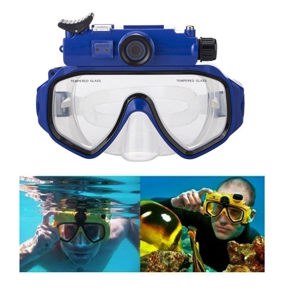 Caméra de plongée masques de plongée vue panoramique Anti-buée Anti-fuite natation tuba plongée sous-marine masque de plongée Compatible Cam - 3