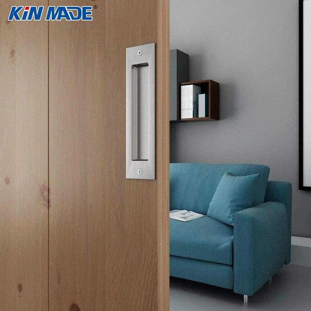 6 1 2 8 Barn Door Handle Flush Pull Rectangular Recessed Handle For Sliding Barn Doors Door Handles Aliexpress