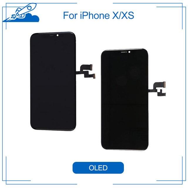 Elekworld Grade Voor Amoled Getest Werken Goed Lcd S Voor Iphone X Xs Lcd Display Met 3D Touch Screen Digitizer Vergadering onderdelen