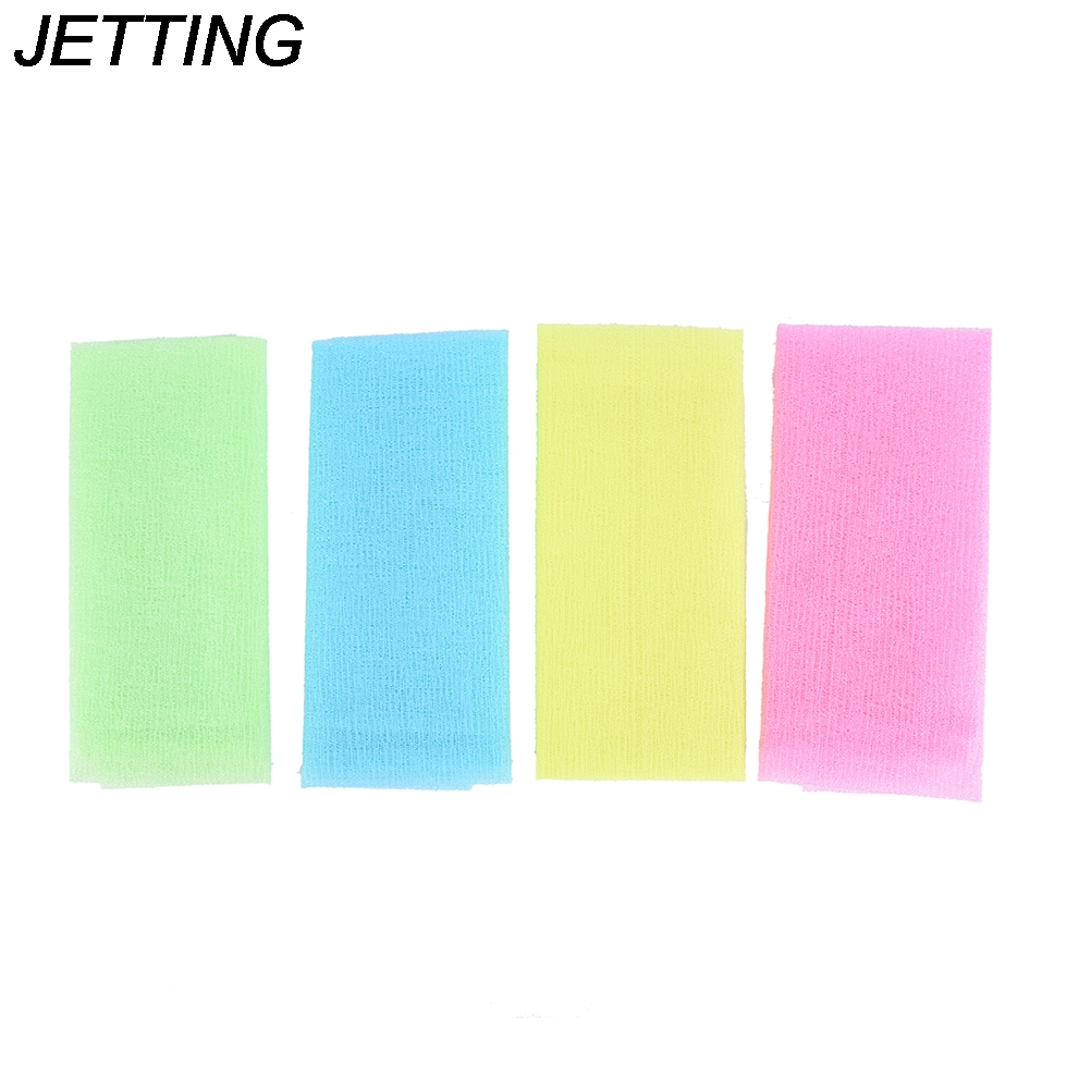 1pcs Nylon Japanese Exfoliating Beauty Skin Bath Shower Wash Cloth Towel Back Scrub Body Cleaning Washing Sponges & Scrubbers
