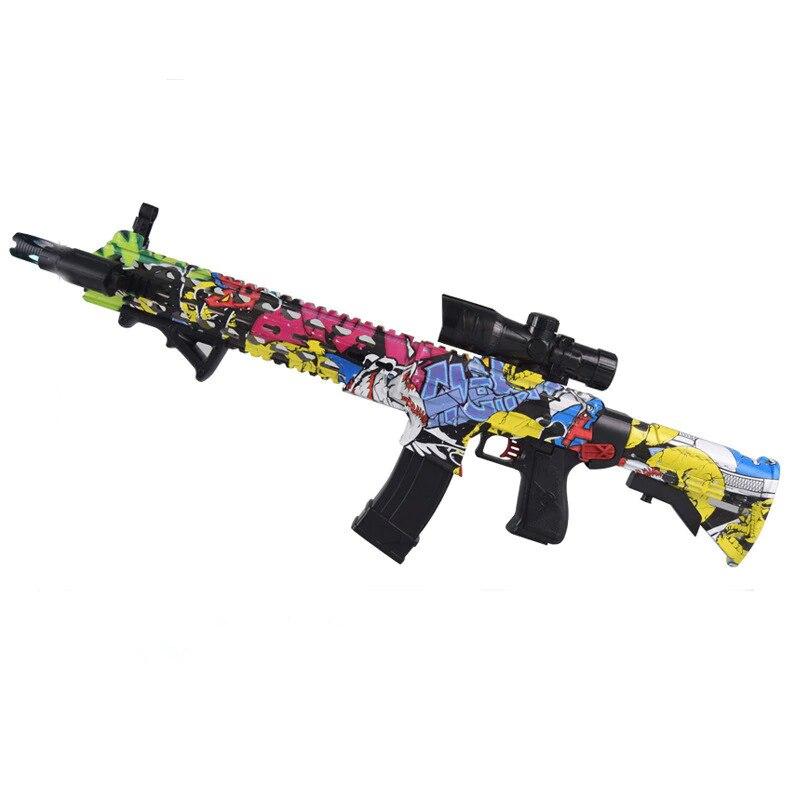 Nouvellement AK47 jouet en plastique pistolet Wat M4 jouet pistolet Gel balle Blaster Sniper eau balle pistolets jeu de plein air pour enfants cadeau d'anniversaire
