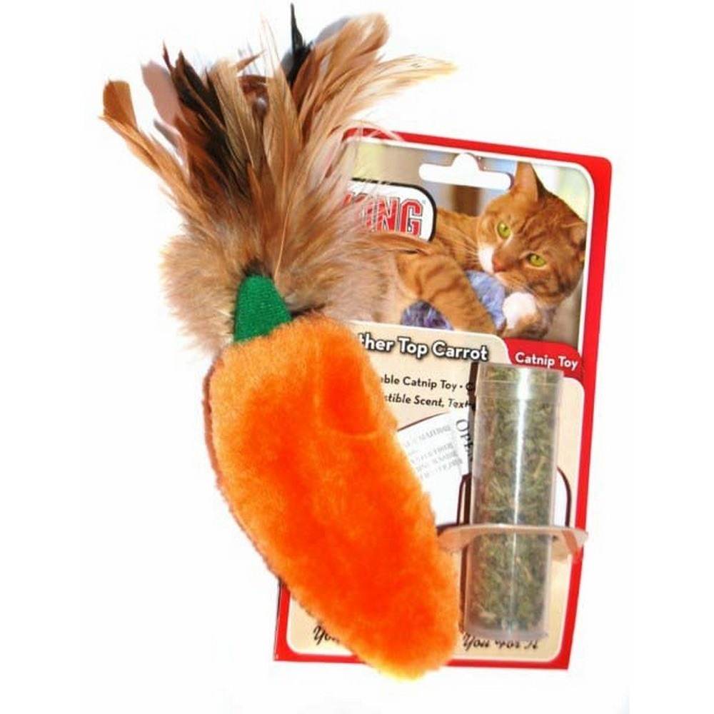 Cat toys KONG toy for cats Carrots 15 cm plush with catnip tub simulation cat plush toy talking toys slippers furnishing articles call animal super cute doll birthday gift lovely decoration