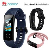Huawei Honor Band 4 Smart Wristband Amoled Color 0.95 Touch Screen 5ATM Waterproof Swim Heart Rate Sleep Snap Smart Bracelet