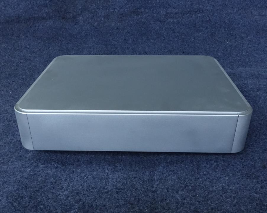 BZ4308D Silver Enhanced version of the rounded corner chassis Amplifier Case Tube Amp Box DIY Enclosure 430MM*80MM*330MM