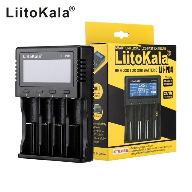LiitoKala Lii-PD4 Lii-PL4 S1 S2 S4 için pil şarj cihazı 18650 26650 21700 18350 AA AAA 3.7 V/3.2 V/ 1.2 V/1.5 V lityum NiMH pil