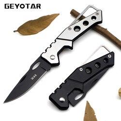 مصغرة المحمولة سكين أضعاف التخييم التكتيكي الطي الجيب حلقة أدوات الصيد edc الفولاذ رئيسيا 2017 بقاء ريال هرع