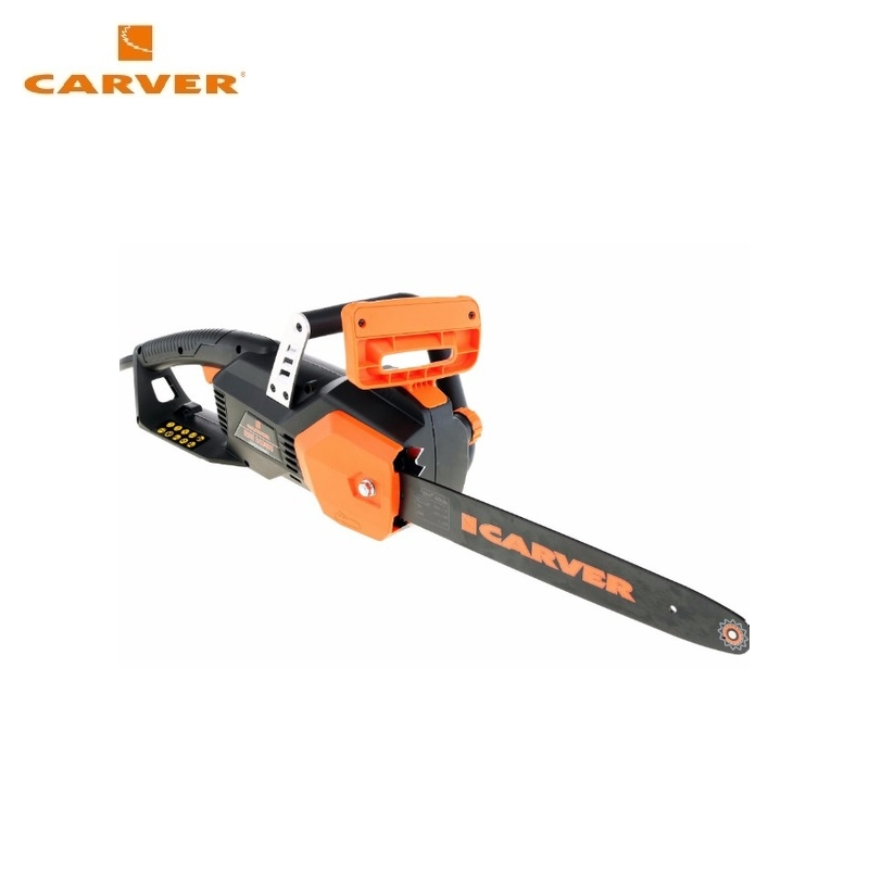 Electric chain saw CARVER RSE-2400M Flat-blade chainsaw Link tooth saw Chain cutter Cross-cut saw electric chain saw maxcut mce 164 flat blade chainsaw link tooth saw chain cutter cross cut saw chainsaw bracket
