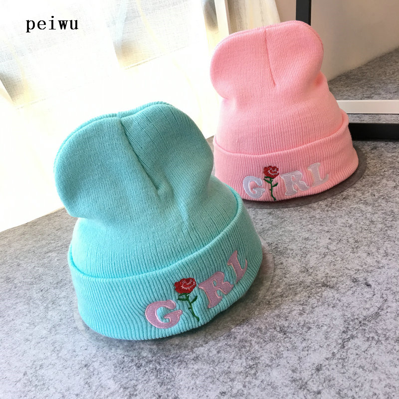 PEIWU Women Girl Rose Embroidered Beanie Hat Hiking Cuffed Knit Caps-in  Skullies & Beanies from Women's Clothing & Accessories on Aliexpress.com |  Alibaba ...
