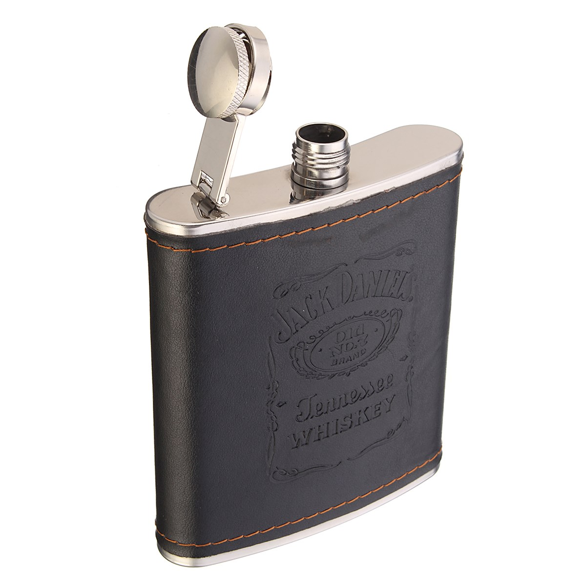 7 Ounce Portable Stainless Steel Hip Flask Whiskey Flask Bottle Mug Engraving Wisky Jerry Can outdoor camping travel tableware