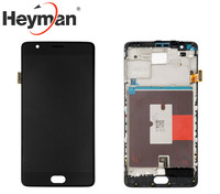 Heyman LCD Screen And Digitizer Assembly With Front Housing Replacement For Oneplus 3t A3010 Free Shipping