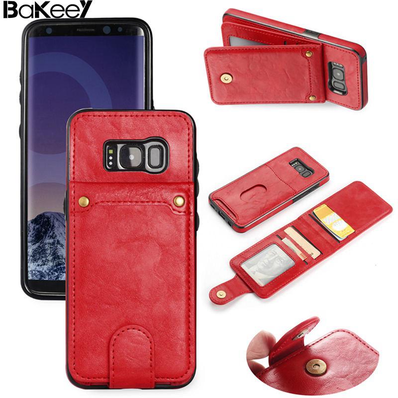 Bakeey Multi-Функция Съемная слот для карты Стенд PU кожи и мягкий силиконовый чехол для Samsung G-alaxy s8 S8 плюс Note8