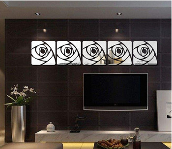 cm Romantic Flower Cartoon Crystal Acrylic Mirror Decorative Sticker 3D Wall Sticker Wall Decal Decol Home Decoration Bathroom 1