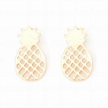 High Quality Best Friend Gift Minimalist Decoration Tiny Cute Pineapple Stud Earrings For Women Men BFF Jewelry(China)