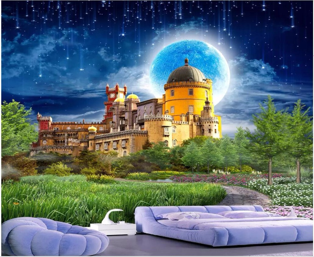 цены Custom mural 3d photo wallpaper Dream Castle, beautiful scenery living room Background 3d wall murals wallpaper for walls 3 d