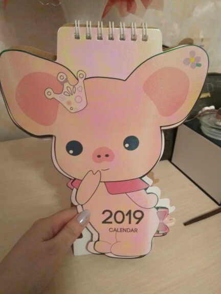 Cute Unicorn Table Calendar 2018.10~2019.12 photo review