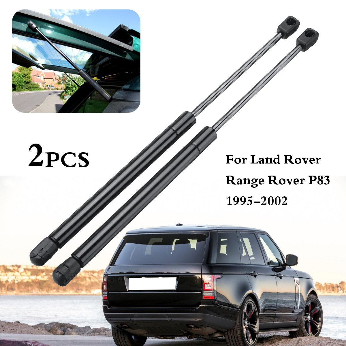 2Pcs Car Rear Tailgate Boot Gas Struts Support For Land Rover Range Rover P38 1995-2002 reb101740 2xfront air suspension spring bag for land rover range rover p38 mk ii 1994 2002