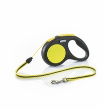 Поводок - рулетка Flexi для собак Neon New Classic S (до 12 кг), шнур, 5 м.