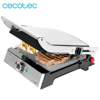 Cecotec RocknGrill PRO 2000WElectric Grill for Barbecue Ecological Stone Coating RockStone Panini Grill Iron and Sandwich Maker
