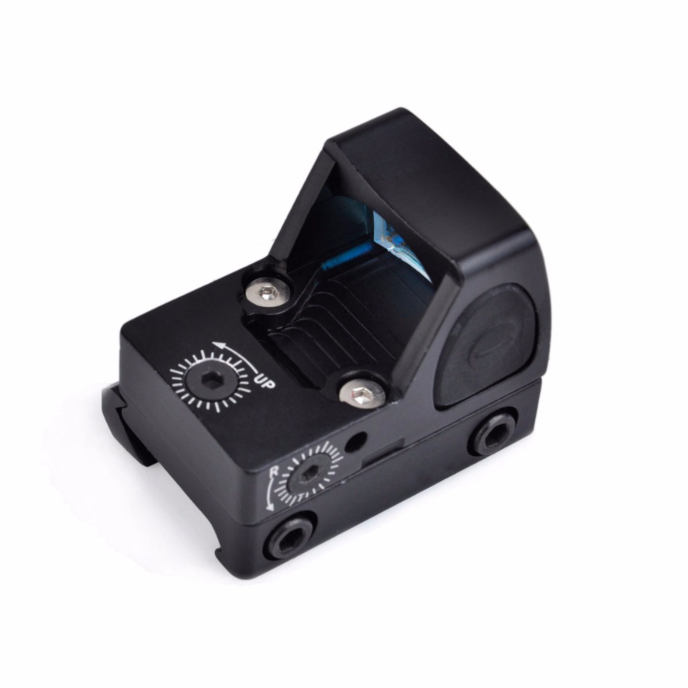 TACTICAL RMR Adjustable Reflex Red Dot Sight 3.25 MOA Scope for Hunting Fit 20mm Weaver Rail and Airsoft Glock Pistol tactical rmr reflex mini red dot sight scope without on off button for hunting airsoft shooting rl5 0033