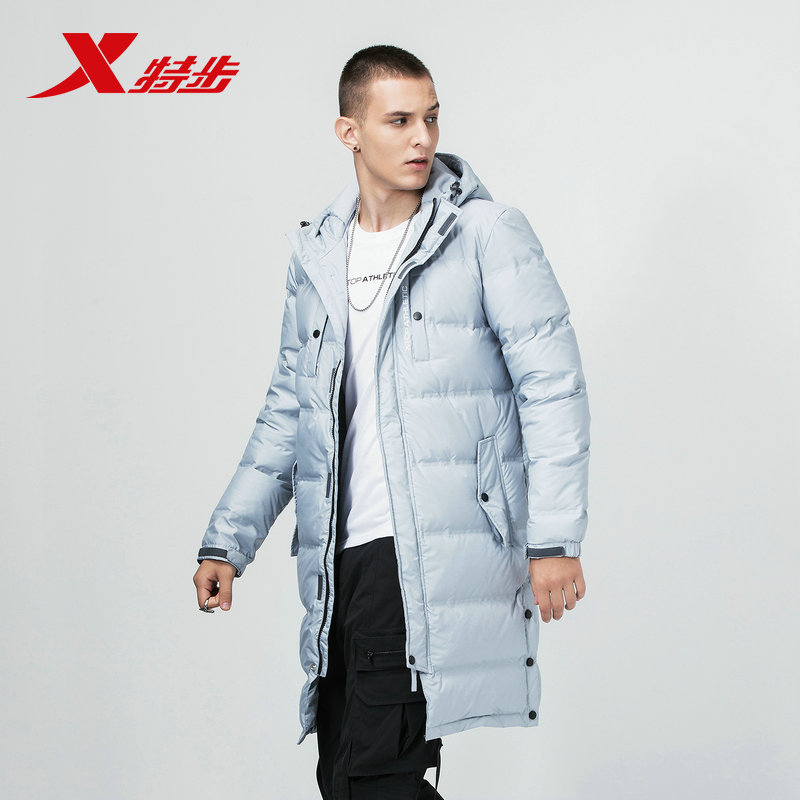 882429199211 Xtep men s 2018 autumn and winter new warm long section comfortable warm jacket casual