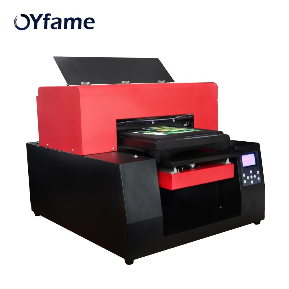 Tamanho da Impressora de mesa Impressora T-Shirt A3 OYfame DIY Máquina de Impressão de Roupas para T-shirt Impressão de Couro Caixa Do Telefone DO Cartão Do PVC