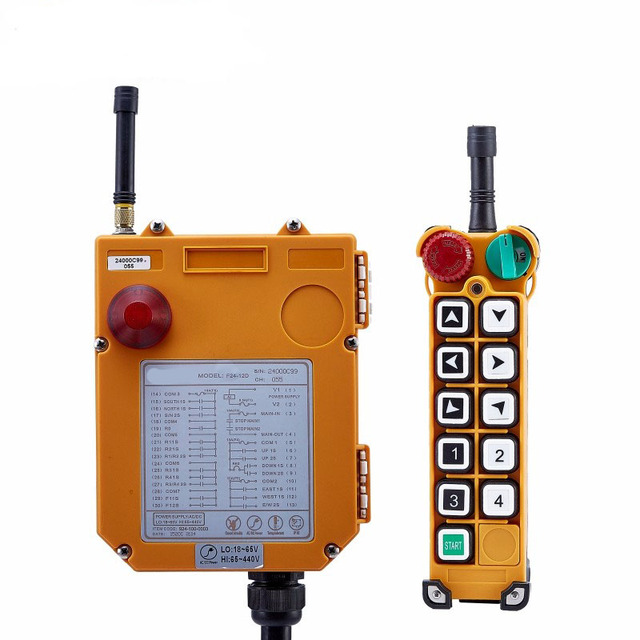 US $95 25 |Original TELECRANE Wireless Industrial Remote Controller  Electric Hoist Remote Control 1 Transmitter + 1 Receiver F24 10S-in  Switches from
