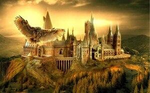 Image 4 - Sensfun 일몰 hogwarts 학교 올빼미 대머리 산 사용자 정의 사진 스튜디오 배경 배경 비닐 7x5ft