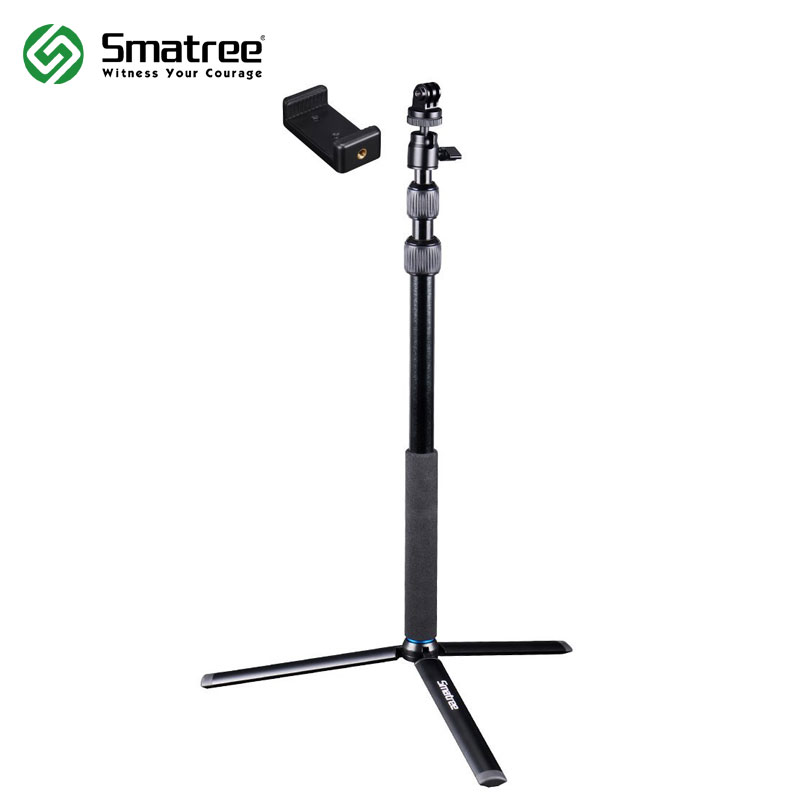 Smatree SmaPole DC Telescoping Selfie Stick with Tripod Stand for GoPro Hero 6/5/4/3+/3/Session Cameras, Ricoh Theta S, M15 Ca