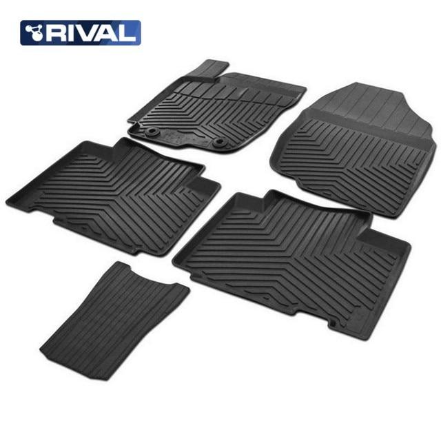 Для Toyota RAV4 2013-2019 Резиновые коврики в салон 5 шт./компл. Rival 65706001