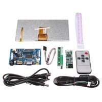 New 1Set Raspberry Pi 7 Inch Raspberry Pi LCD Touch Screen Display HDMI HD 1024x600 Touch