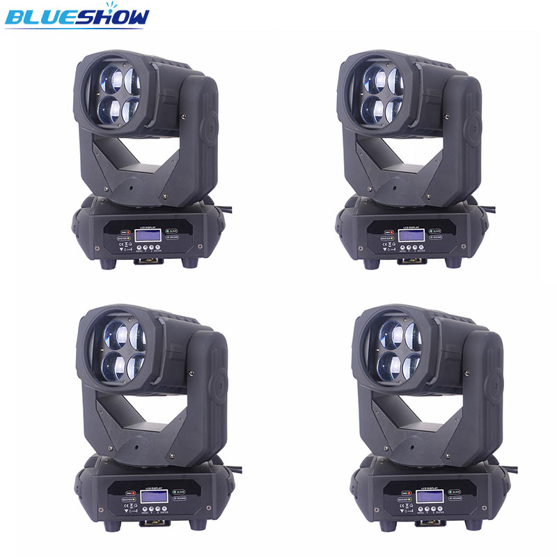 Без налога на заказ 4 шт./лот, 4x25 Вт LED супер луч движущийся головной свет DJ сценический свет движущийся головной свет 100 Вт 4 световой эффект
