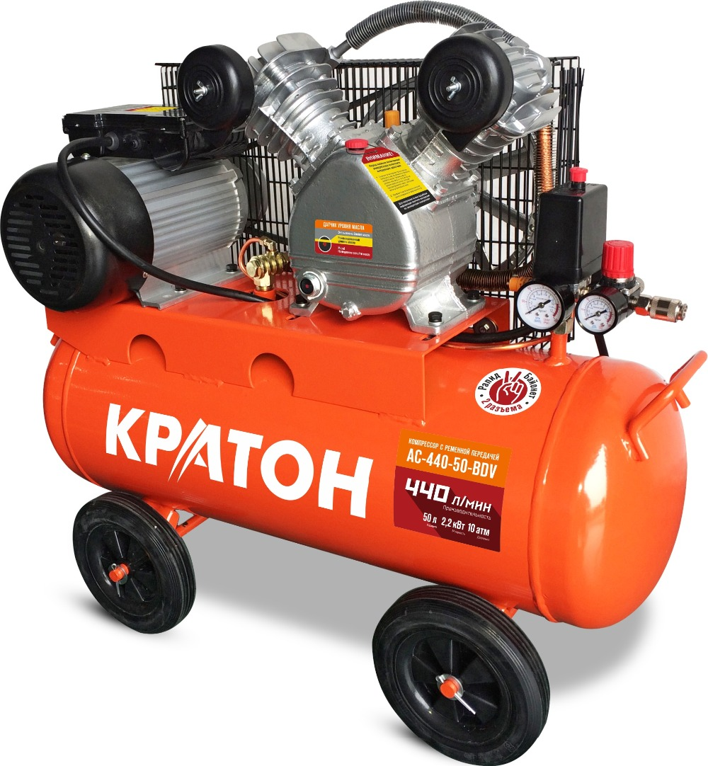 Compressor KRATON with belt transmission AC-440-50-BDV compressor kraton with direct transmission ac 180 24 dd