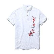 Plus size 4xl 5xl 6xl 7xl 8xl 9xl 10xl Homens Bordados Camisa pólo de Manga  Curta Slim Fit 100% Algodão de Moda Roupas de Marca . fd57d52e0bdf7