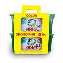 Капсулы для стирки Ariel Color 3в1 30 + 30 шт.