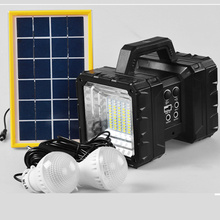 led portable spotlight work light rechargeable lamp flashlight battery tent solar outdoor searching