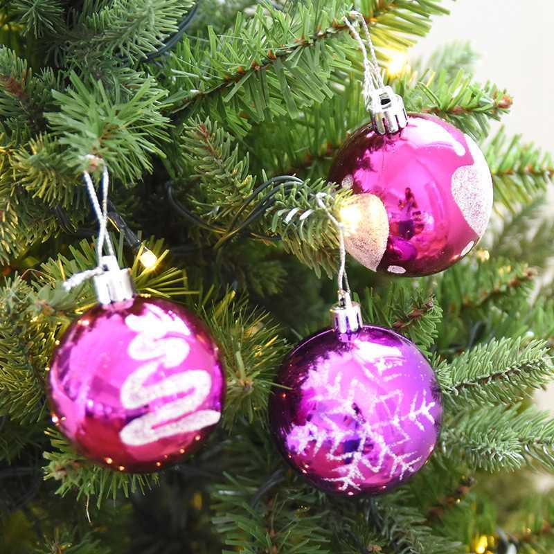 hoomall unids bolas de navidad adornos del rbol de navidad ao nuevo bola de navidad de plstico para el hogar decoracio