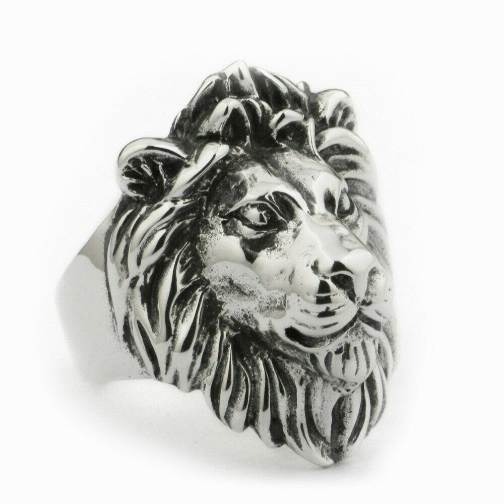 USA Located 925 Sterling Silver King Lion Ring Mens Biker Rock Punk Ring TA09 4PXUSA Located 925 Sterling Silver King Lion Ring Mens Biker Rock Punk Ring TA09 4PX