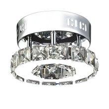 Современные круговой светодио дный кристалл потолочный светильник светодио дный свет блеск 18 Вт потолок AC110/220 В домашнего освещения lampadari потолочный светильник xiaomi ceiling light потолочный светильник