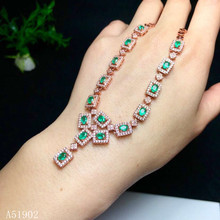 KJJEAXCMY Fine jewelry 925 sterling silver inlaid natural emerald gemstone female necklace pendant support test kjjeaxcmy fine jewelry 925 sterling silver inlaid natural gemstone amber wax female ring support test
