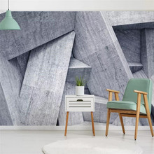 3D abstract gray future space background wall specializes in producing high-end mural wallpaper photo