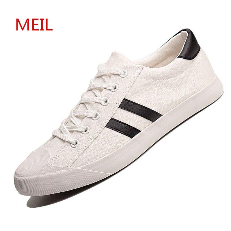 Nouveauté noir blanc baskets hommes chaussures décontractées toile chaussures hommes formateurs confortable Zapatillas Zapatos Hombre décontracté Tenis