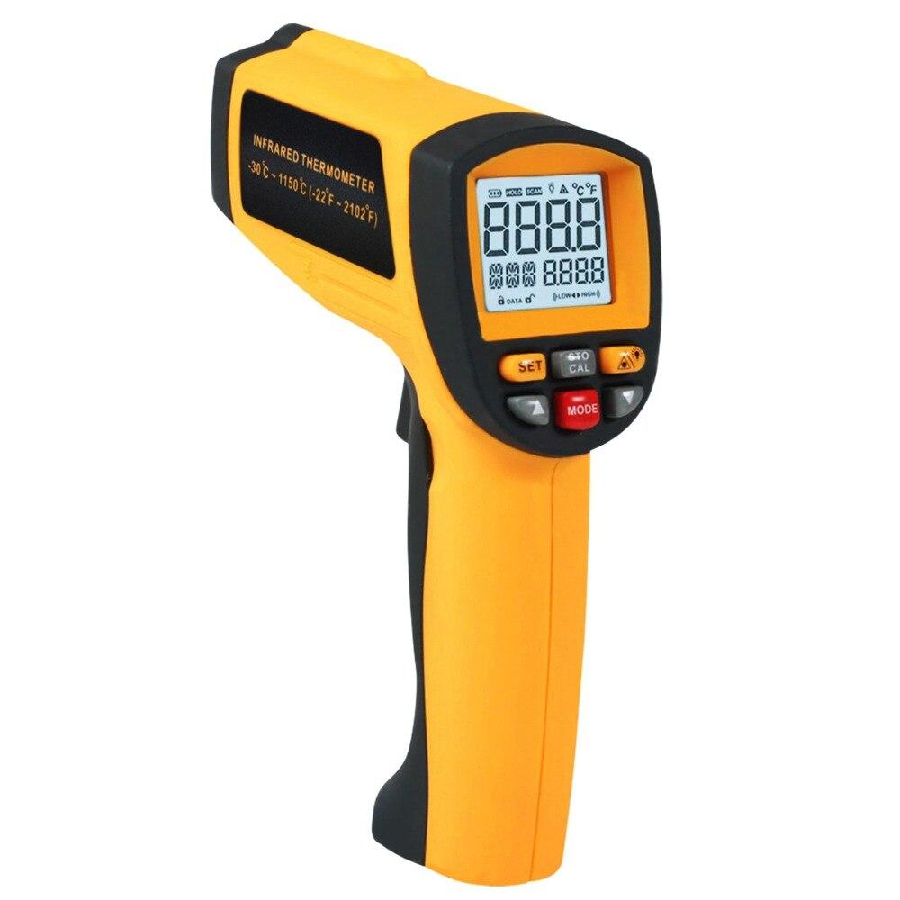50: 1 thermomètre Laser infrarouge IR sans contrat-30 ~ 1150 degC/-22 ~ 2102 degF numérique lecture instantanée professionnelle 0.1 ~ 1EM pyromètre