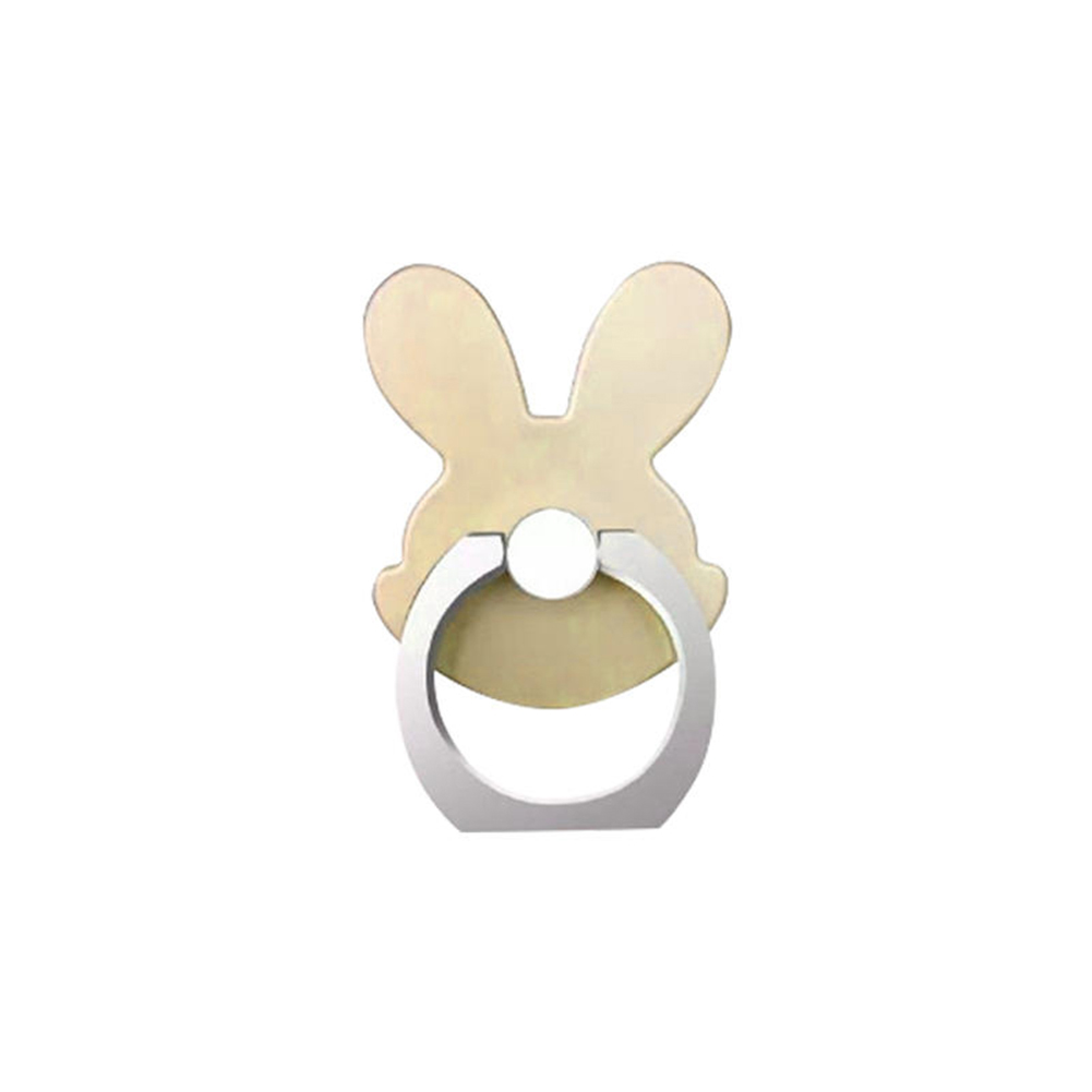 Cute Rabbit Design 360 Degrees Rotating Metal Ring Buckle Stand Mount Phone Holder
