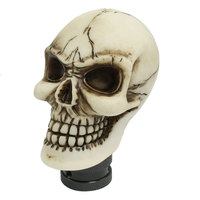 X Autohaux Human Wicked Skull Head Universal Manual Car Shift Knob Shifter Mt Gear Beige