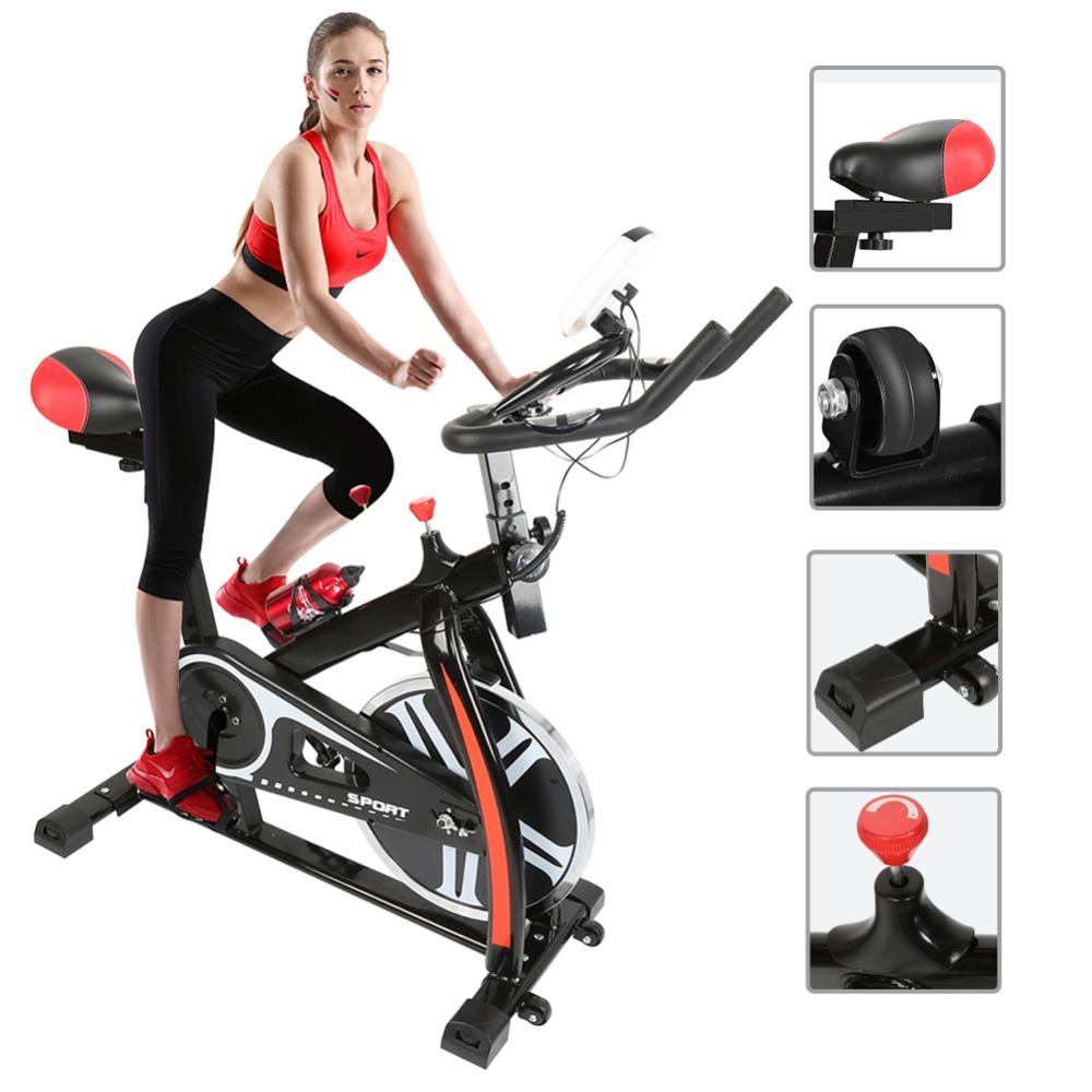 2018 New Pedal exercise bicycle mute household magnetic stationary exercise bike indoor fitness cycling equipment bicycle HWC healthy soho office spinning bicycle super mute household magnetic bike with table back pedal fitness equipment dynamic bike