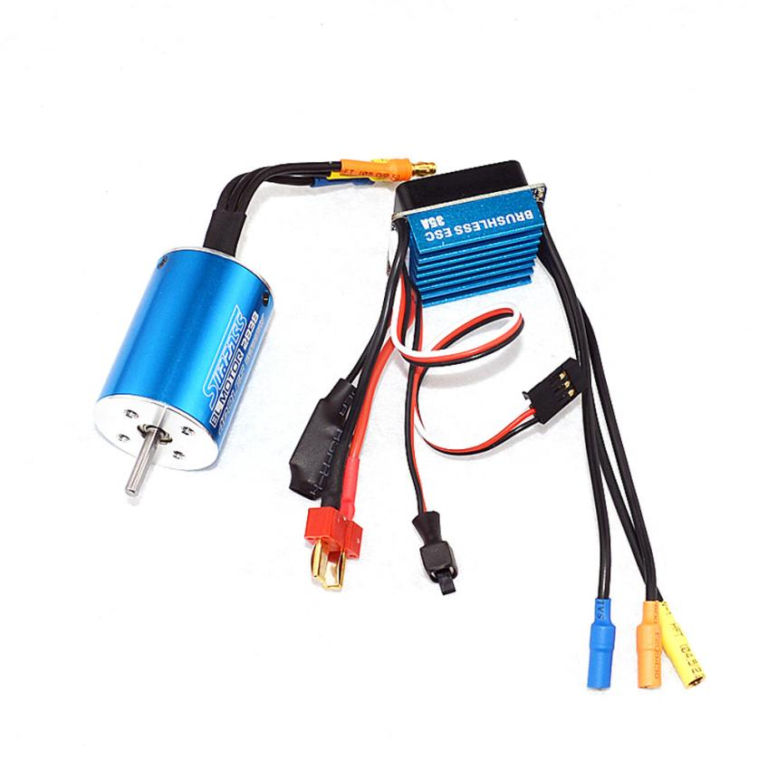 CY-600007-17 motore bruhless 2838 4500KV + Sensorless 35A Brushless ESC IUNEED TOY Store lc racing l6048 brushless motor micro 380 6 5t 4500kv 4 pole 2838 3 175mm shaft modified