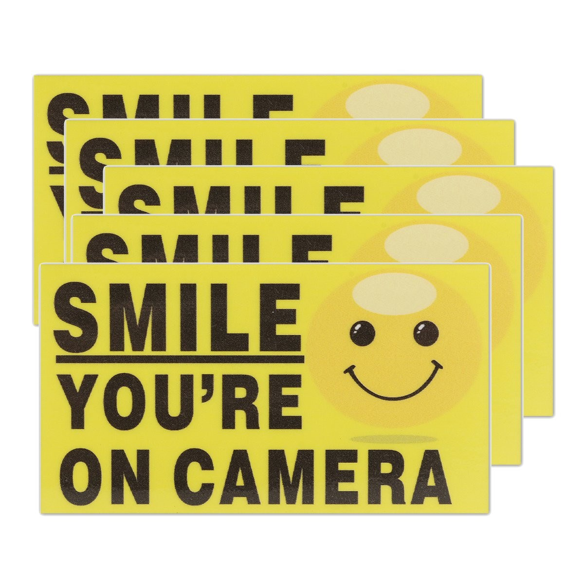 все цены на NEW Safurance 5x Smile You're On Camera Self-adhensive CCTV Video Alarm Safety Stickers Signs Decal Home Security Warning