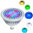 Pack de 2 LED lumière de piscine, 12 V 40 W, changement de couleur blanc rvb, IP65 sous la lumière de l'eau, remplacement pour Pentair et Hayward luminaire - 1